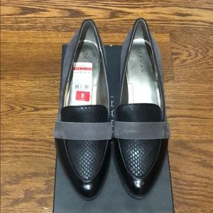 ba5a16dc468 new in box Tahari Lucille loafers. new in box Tahari Lucille loafers.  48   68 · Tahari Salty Leather Loafers Gold Clamp Flats Shoe